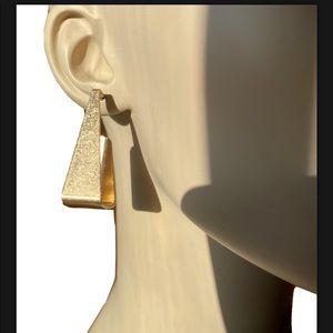 Kenneth Jay Lane KJL 22K Gold Plated Hoop Earrings